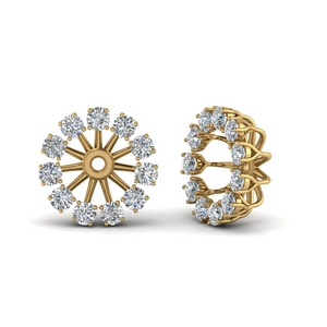 Floral Diamond Earring Jackets