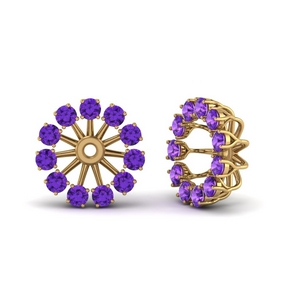 Purple Topaz Floral Earring Jacket