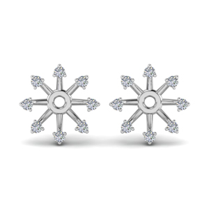 Halo Diamond Earring Jacket For Stud