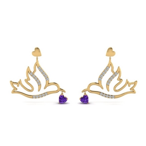 Bird Drop Earring Gold