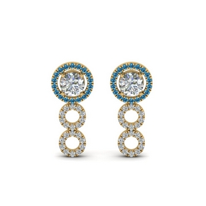 3/4 Carat Topaz Drop Earring