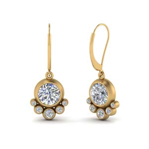 Diamond Bezel Set Earring