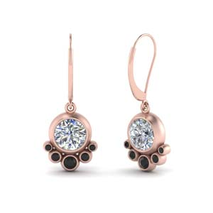 Black Diamond Dangle Earring