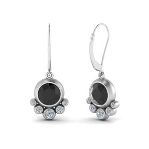 Bezel Drop Gemstone Earring