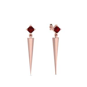 Ruby Dangle Drop Earring