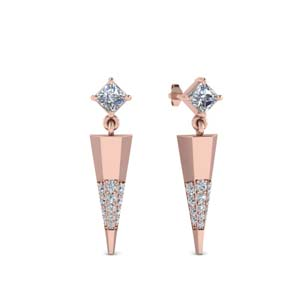 Mini Diamond Dagger Earrings