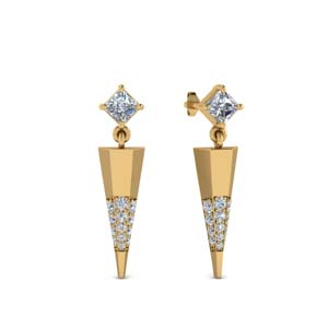 Diamond Dagger Earring