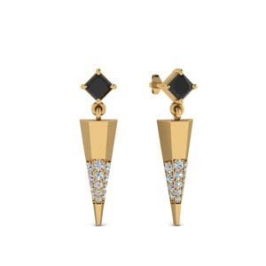 Mini Black Diamond Dagger Earring