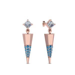 Topaz With Dagger Earring