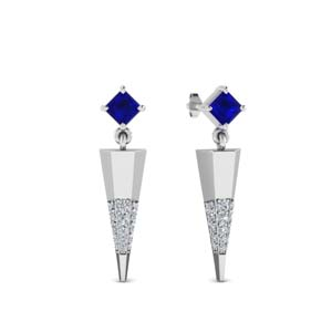 Mini Sapphire Dagger Earrings