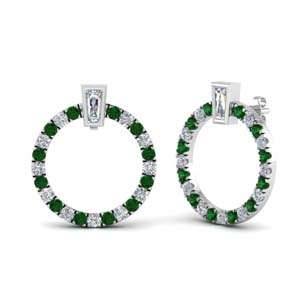 Emerald Circle Pattern Earring