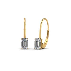 Diamond Leverback Dangle Earring