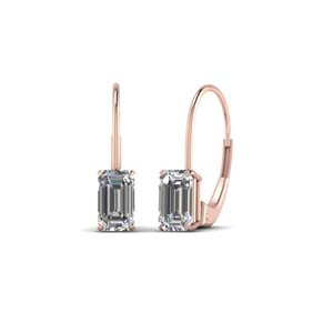Diamond Leverback Stud Earring