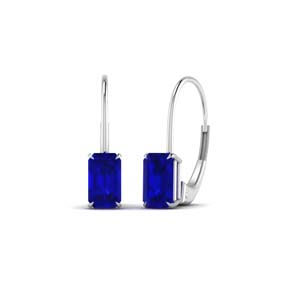 White Gold 1 Ct. Sapphire Earring