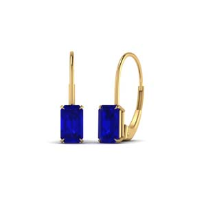 1 Ct. Sapphire Leverback Stud Earring