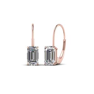 Two Karat Leverback Diamond Earring