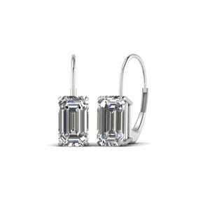 4 Ct. Diamond Lever Back Drop Earring