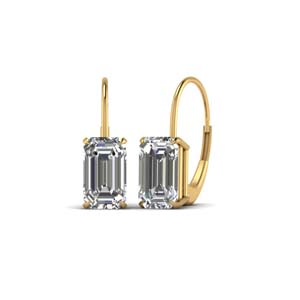 Emerald Cut Dangle Earring