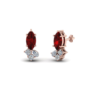 Ruby Earrings For Her