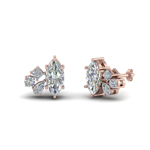 Marquise Cluster Diamond Earrings