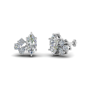 Marquise Cluster Diamond Earring