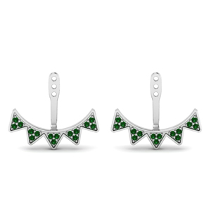 V Shape Emerald Earring Jackets