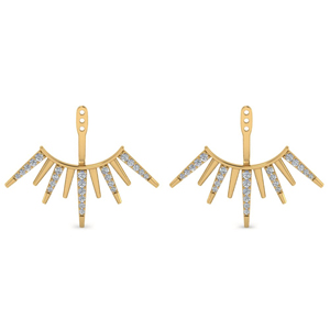 18K Gold Arrow Earring Jacket
