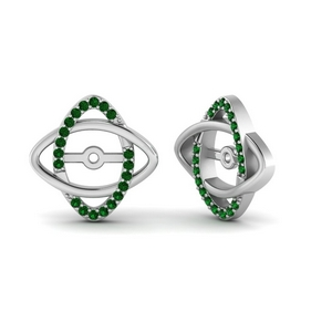 Emerald Earring Enhancers For Stud