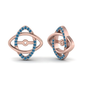 14K Rose Gold Twisted Ear Jackets