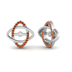Orange Sapphire Earring Enhancers For Stud