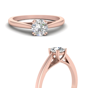 14K Rose Gold Solitaire Ring