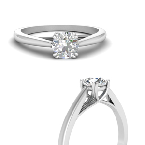One Stone Ring 18K White Gold