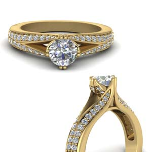 Twisted High Set Diamond Ring