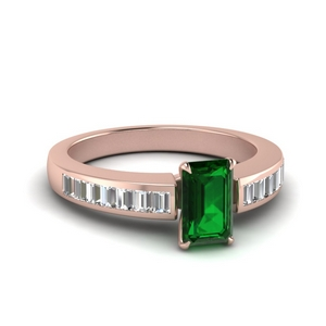 Channel Set Emerald Ring