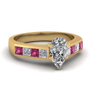 Pink Sapphire Channel Set Ring