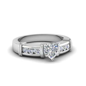 Channel And Bar Set Diamond Ring