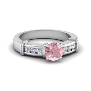 Morganite Channel Set Ring