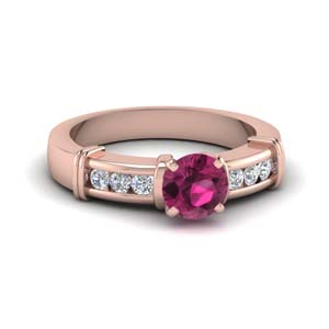 Classic Pink Sapphire Ring