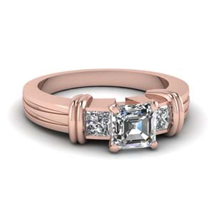 Double Bar 3 Stone Ring