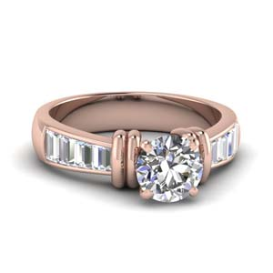 Channel Round Diamond Ring