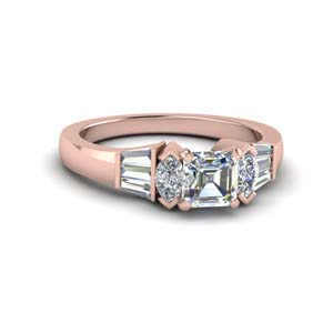 Asscher Cut Baguette Ring
