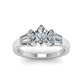 baguette bar and marquise diamond engagement ring in FDENR1120MQRANGLE5 NL WG