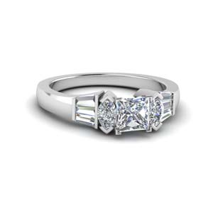 Platinum Princess Cut Ring