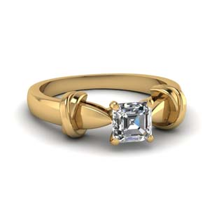 Tapered Asscher Cut Ring