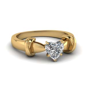 Tapered Heart Diamond Ring