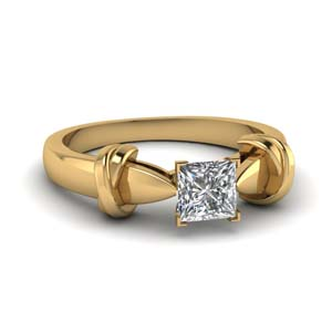 Princess Cut Tapered Ring