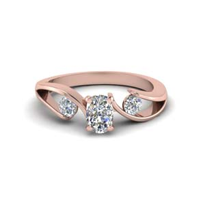 Cushion Cut 3 Stone Rings