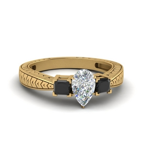Black Diamond Vintage Style Ring
