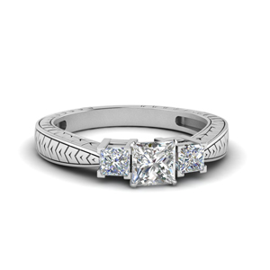 Platinum Princess Diamond Ring