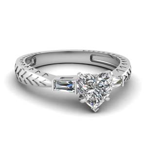 0.50 Ct. Diamond Baguette 3 Stone Ring